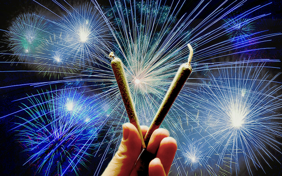 Florin Wellness Center blog - FWC cannabis dispensaries open on 4th of july marijuana weed cannabis 420 thc cbd independence day sacramento california central valley party legal open fireworks sparklers spark up powered by kolas